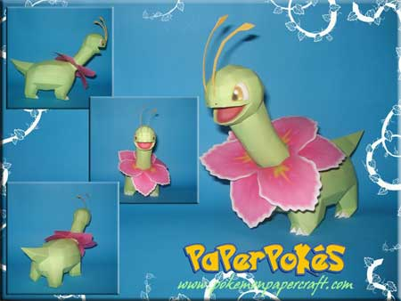 Pokemon Meganium Papercraft