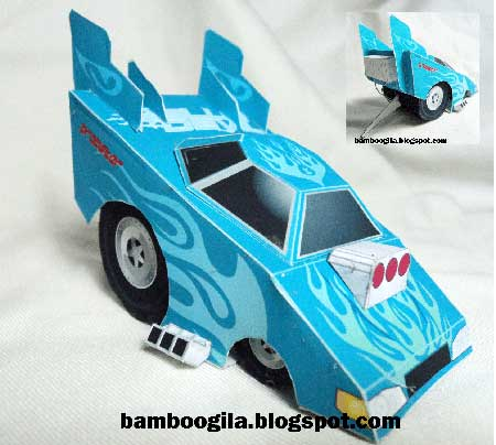 Drag Racing Papercraft