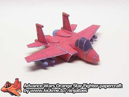 Advance Wars Papercraft Orange Star Fighter