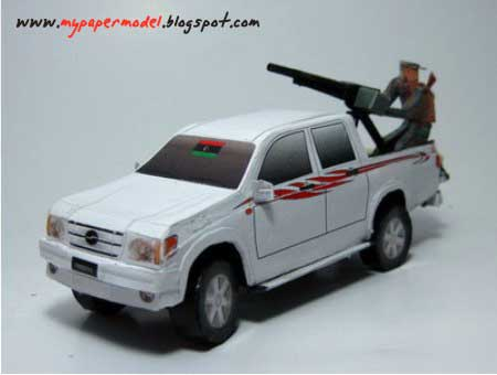 Libyan Technical Vehicle Papercraft