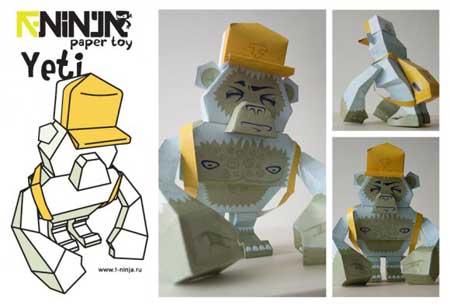 T Ninja Yeti Paper Toy