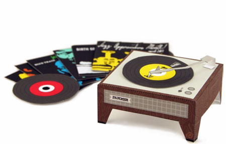 2011 Record Player Papercraft Calendar April