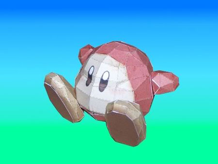 Kirby Waddle Dee Papercraft