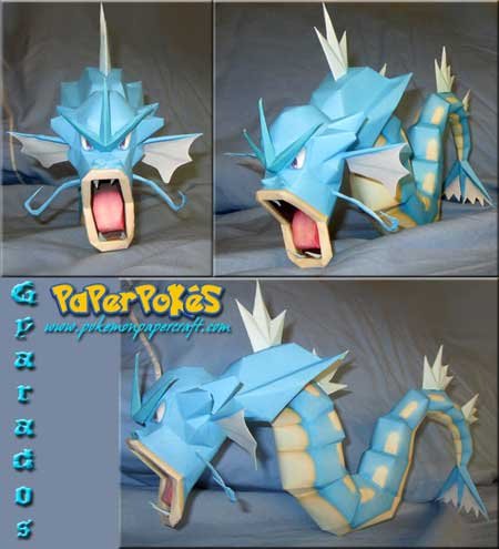 Pokemon Gyarados Papercraft