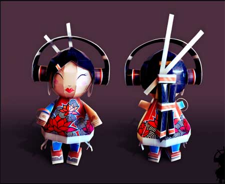 DJ Surikizu Paper Toy