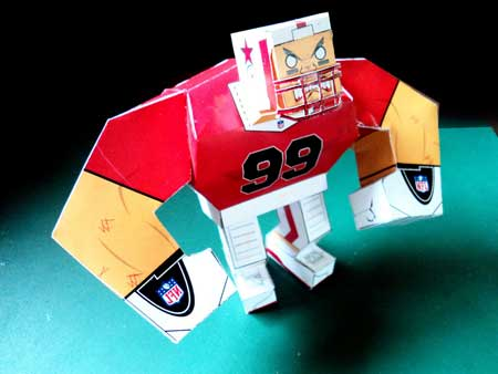 SuperBowl Player Paper Toy