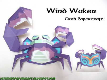 The Wind Waker Crab Papercraft