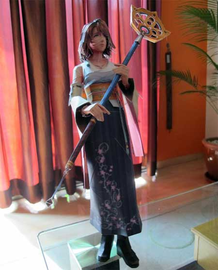 Final Fantasy X Yuna Papercraft