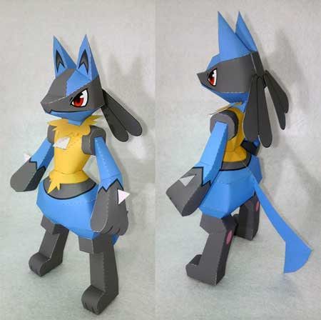 Pokemon Lucario Papercraft 2