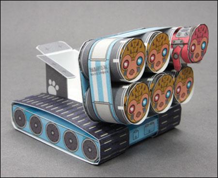 Multiple Launch Rocket Papercraft PIGMY