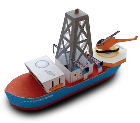 JOIDES Resolution Drilling Ship Papercraft