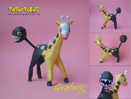 Pokemon Girafarig Papercraft