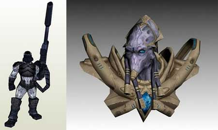 StarCraft 2 Papercraft Zeratul Probe Ghost