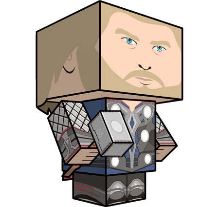 Thor Papercraft 2011 Film Version