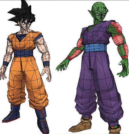 Dragon Ball Papercraft Goku Piccolo