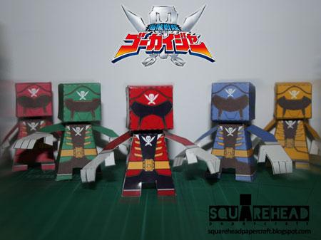 Kaizoku Sentai Gokaiger Paper Toys