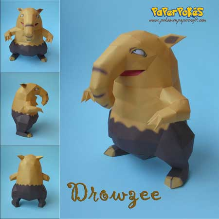 Pokemon Drowzee Papercraft