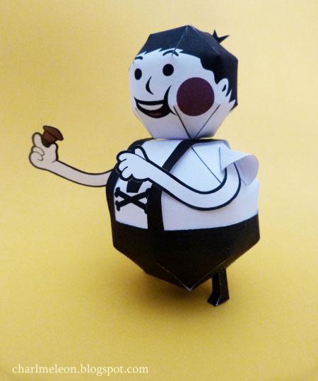 Johnny Cupcakes Papercraft Mascot