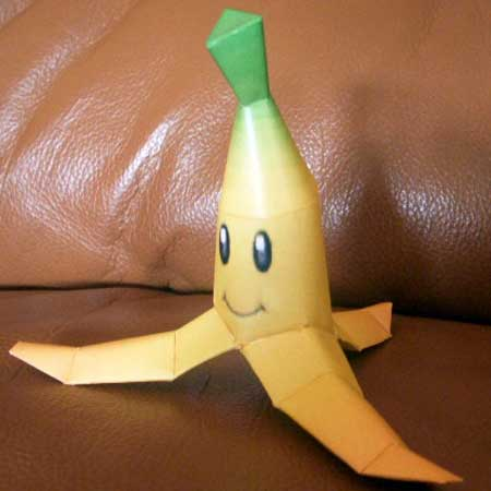 Mario Kart Double Dash Papercraft Banana Peel