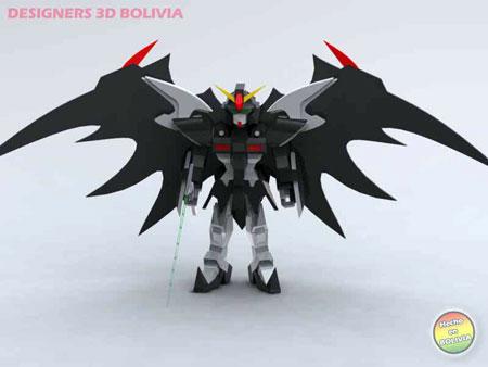 SD Gundam Deathscythe Hell Papercraft