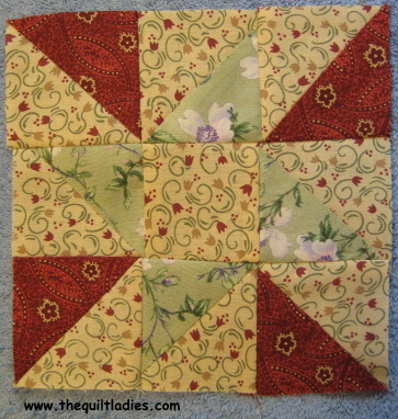 Fifty-Two Quilt Pattern Blocks in Fifty-Two Weeks, Week 21, Nine Patch Star Quilt Tutoria