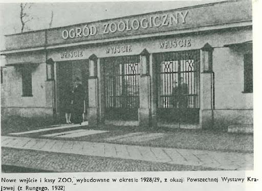 Brama wejściowa do zoo - stan z 1923 roku