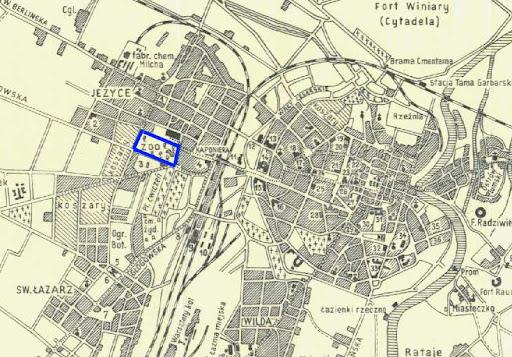 Plan Poznania z 1900 roku