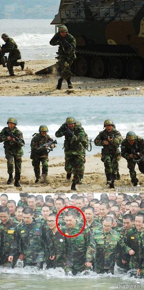 รวมรูปภาพของ Hyun Bin ในกองทัพ