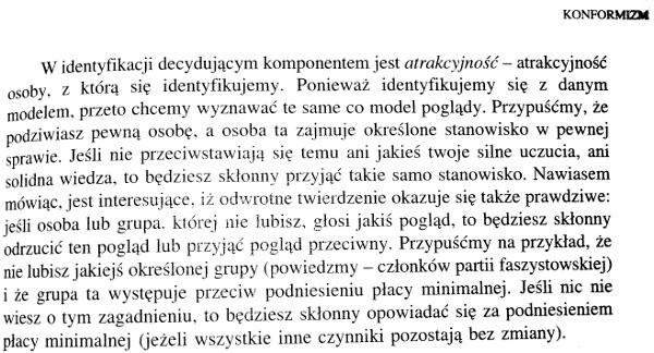 Elliot Aronson, Człowiek istota społeczna (The social animal), PWN 2000, junta, konformizm, identyfikacja