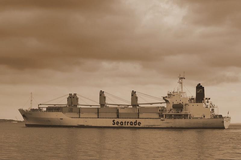 Navio No Rio Sado