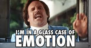I'm in a glass case of emotion! Will Ferrell in Anchorman. | Glass case of  emotion, Emotions, Will ferrell