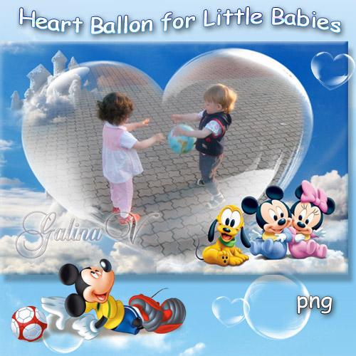 Детская фоторамка - Сердечко для ангелочков