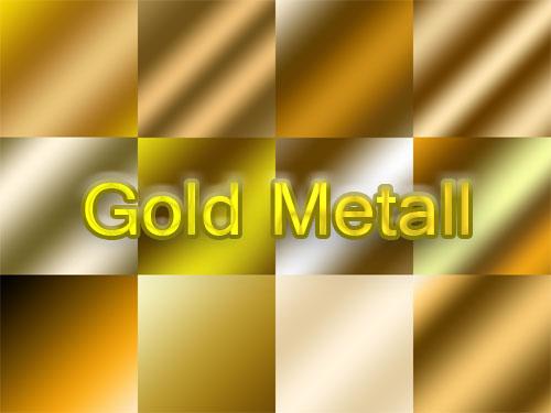 Градиенты для Photoshop - Золотой металл / Gold Metal Gradients