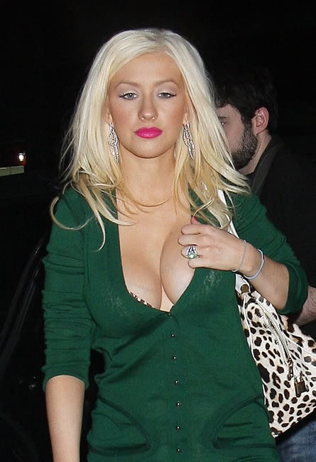 Christina Aguilera's breasts are a work of art(8photos):celebrities,big breasts