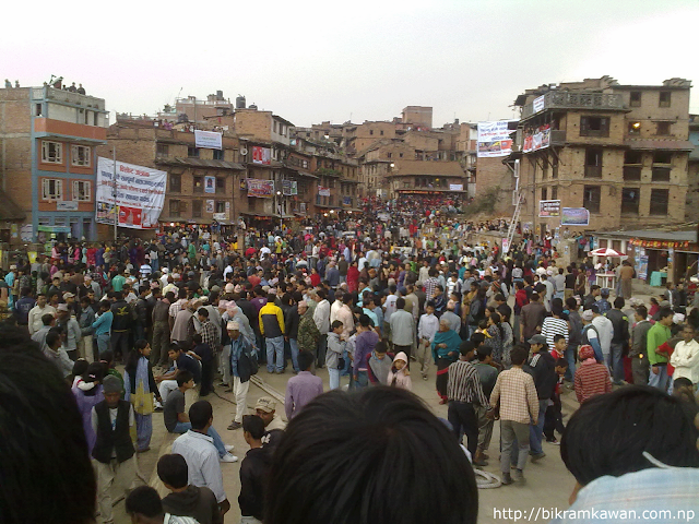 People Mass on Bisket Jatra