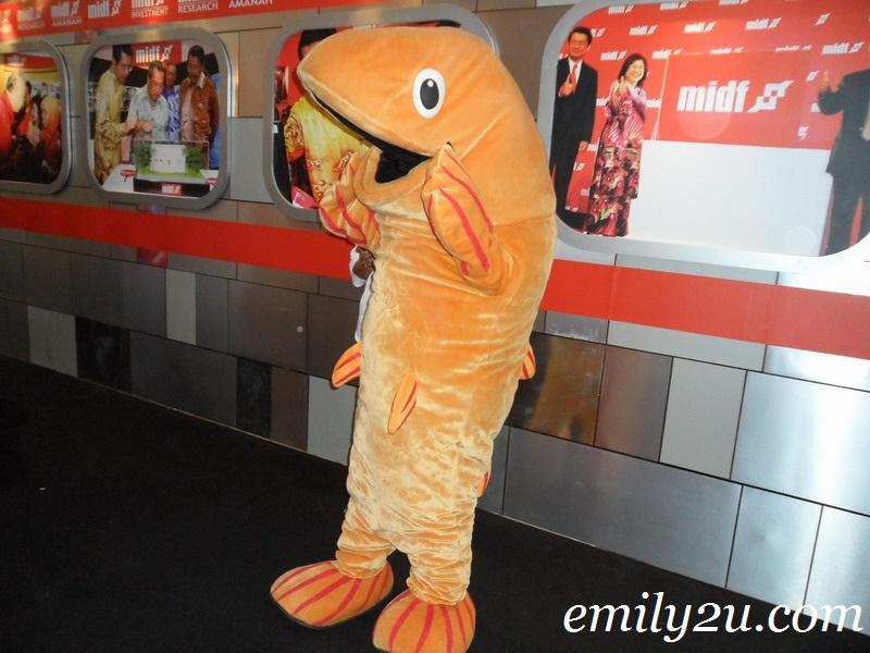 orange fish mascot
