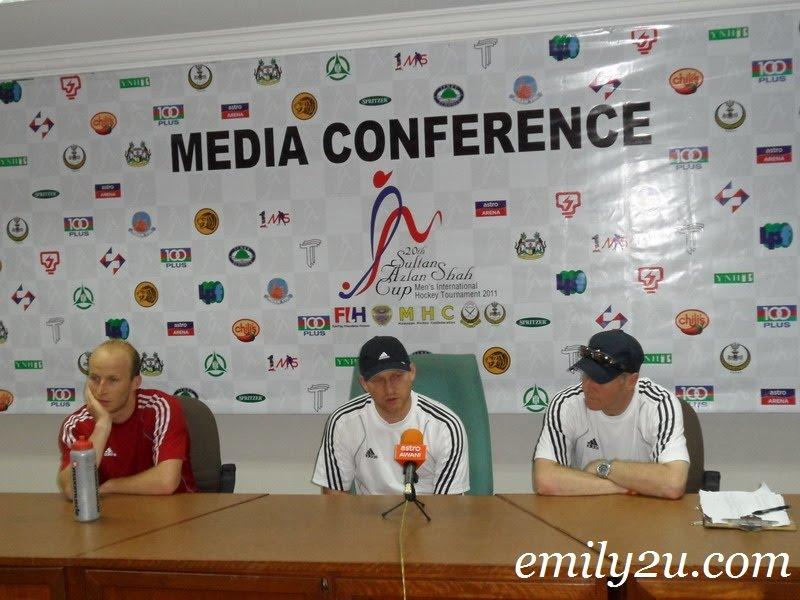 Sultan Azlan Shah Cup 2011 hockey media conference