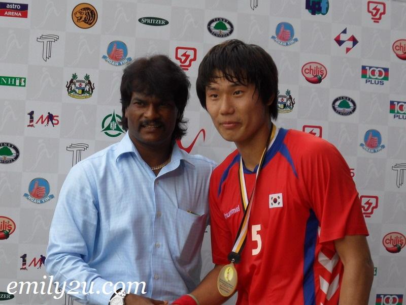 Player of the Match Nam Hyun Woo