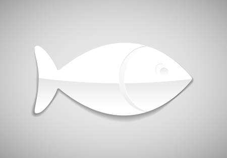 simple fish icon illustration