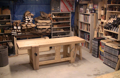 Model Woodworking Bench Overhang Plans DIY How To Make