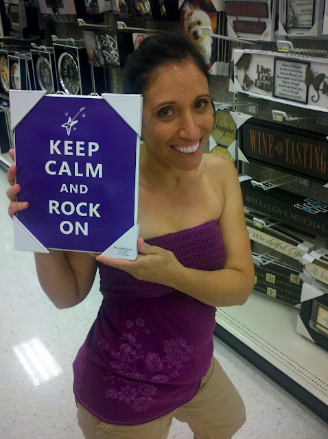 PurplePic RockOn Keep Calm and Rock On for Epilepsy
