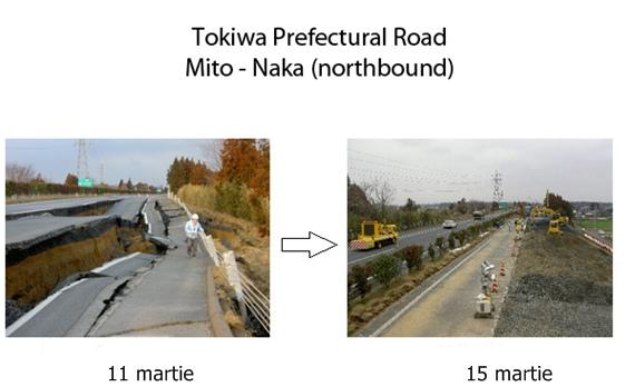 Japonezii au avut nevoie de doar patru zile pentru a repara un drum afectat de cutremur