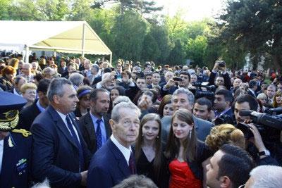 Studenţi jurnalişti clujeni în vizită la Regele Mihai I