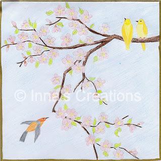 Japanese cherry blossom, sketch