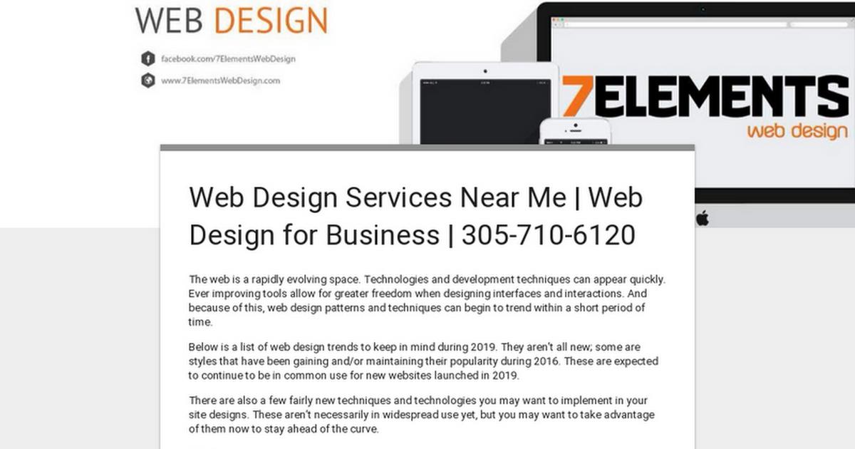 Web Design Services Near Me | Web Design for Business | 305-710-6120