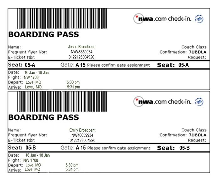 Plane Ticket redo