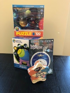 Star Projector, 100 pc Planet puzzle, Pocket Star Finder, Glow Stars