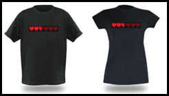 8-Bit Dynamic Life Shirts from ThinkGeek