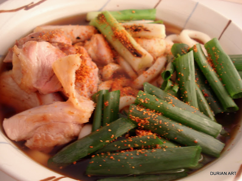 wheat noodles. It can be made as nabe hot pot cooked on the table