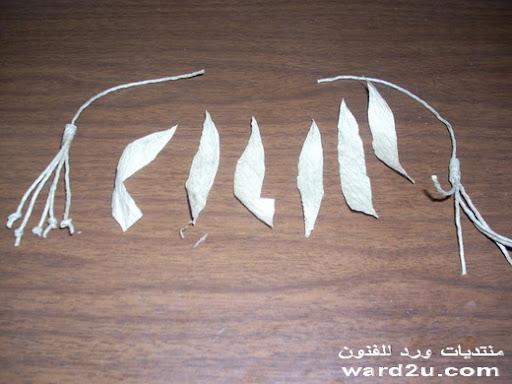 تابلوه من ورق الكوريشه شرح بالخطوه